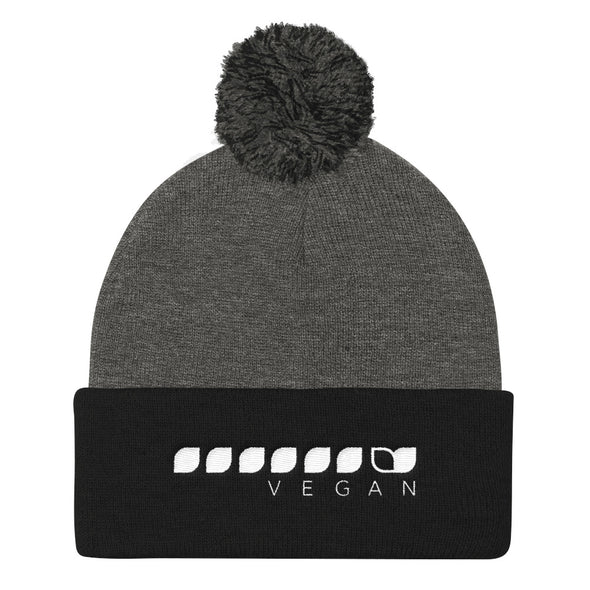 Vegan Seeds Pom Pom Knit Cap Unisex Knit Beanie by Hill Killer