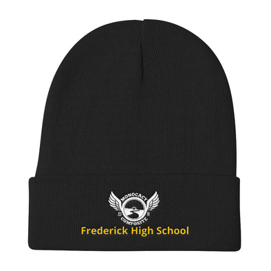 Monocacy Composite/ Frederick High School Knit Beanie Custom Monocacy Composite by Hill Killer