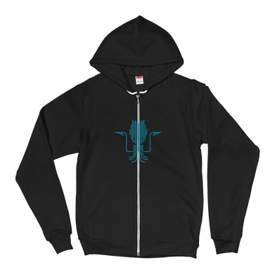 Kraken Blue Unisex Hooded Sweatshirt by Hill Killer
