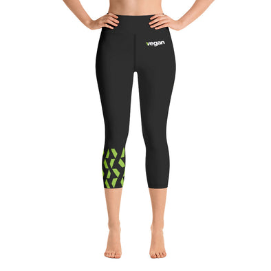 Vegan Yoga Capri Leggings Women's Yoga Capri by Hill Killer