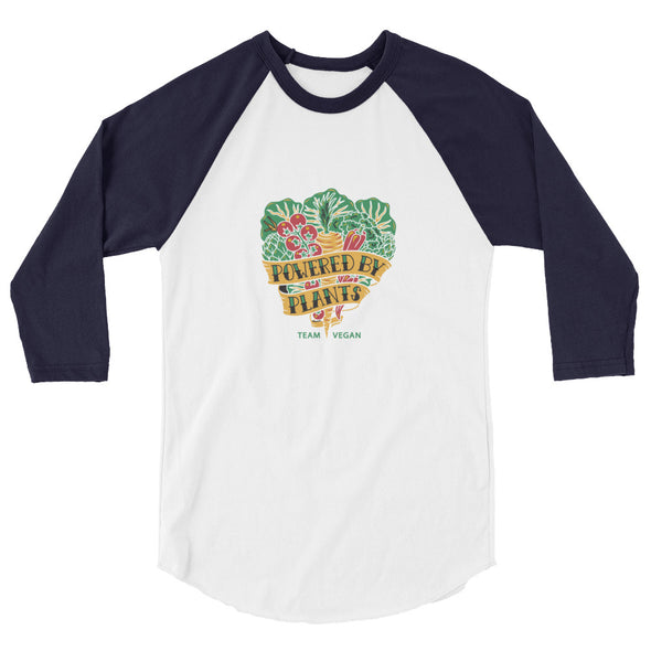 Vegan Harvest 3/4 Baseball T-Shirt Men's Baseball Tee by Hill Killer