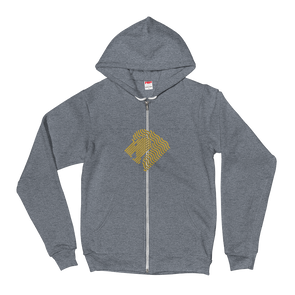 Lion Gold Unisex Hooded Sweatshirt by Hill Killer