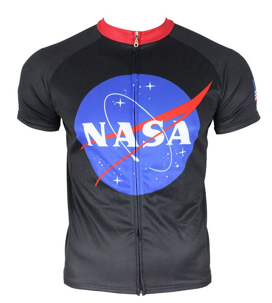 NASA Apollo (Black) Men's Cycling Jersey | Hill Killer Apparel