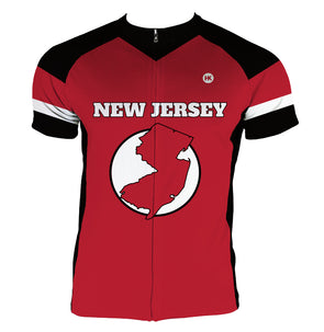 New Jersey Men's Club-Cut Cycling Jersey by Hill Killer