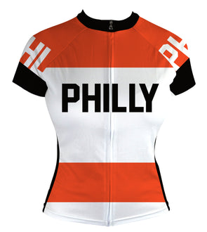 Philly Retro FLY Women's Club-Cut Cycling Jersey by Hill Killer