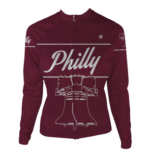 Philly 'Liberty' Women's Thermal-Lined Cycling Jersey by Hill Killer