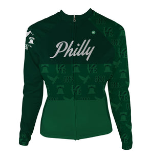 Philly 'Icon' Women's Thermal-Lined Cycling Jersey by Hill Killer