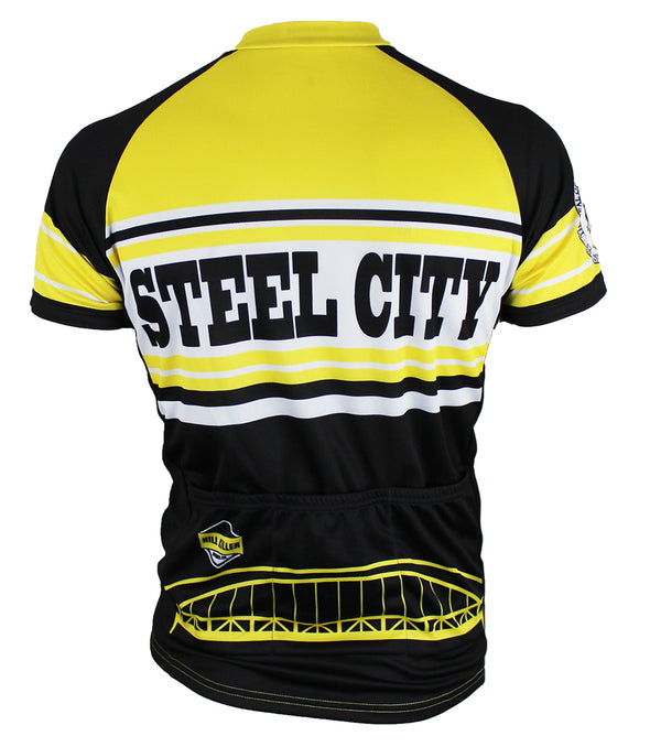 Pittsburgh Men's Club-Cut Cycling Jersey by Hill Killer