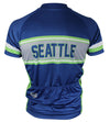 Seattle Retro Men's Club-Cut Cycling Jersey by Hill Killer
