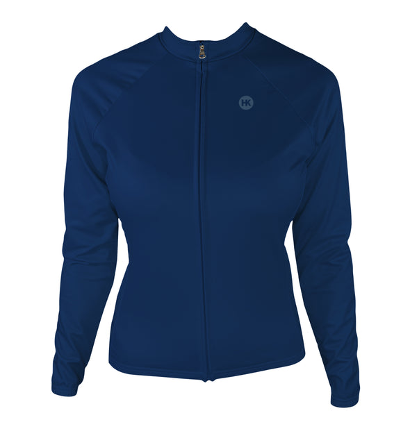 Winter Sky Dusk (Preorder) Women's Thermal-Lined Cycling Jersey by Hill Killer
