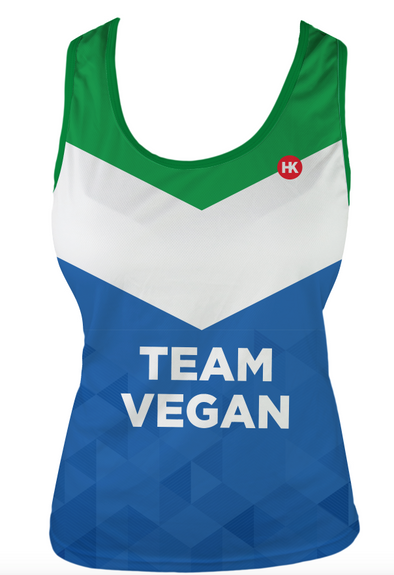 Vegan Flag Women's Running Singlet by Hill Killer