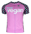 Vegan 'Velo' Pink Men's Club-Cut Cycling Jersey by Hill Killer