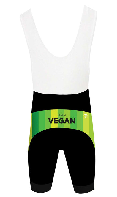Team Vegan 17 Men's Performance Cycling Bibs by Hill Killer