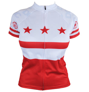 DC Flag Women's Club-Cut Cycling Jersey by Hill Killer
