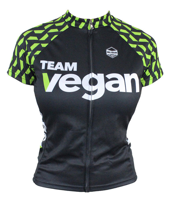 Vegan Velo Women's Club-Cut Cycling Jersey by Hill Killer