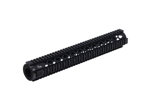 "15"" Quad Rail Extended Length Free Float Handguard Diamond Cut"