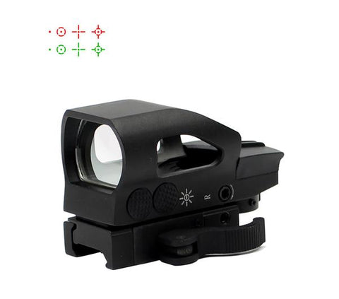 TACTICAL RED AND GREEN DOT SIGHT W/ QUICK RELEASE QD MOUNT QUICK EASY TO USE