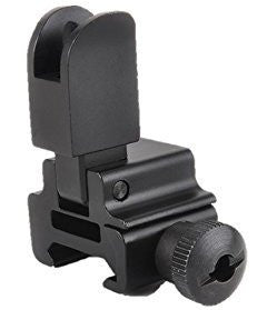 Removable High Profile Flip-up Tactical Open Front Sight for Picatinny Rail Complete with Dual Aiming Aperture
