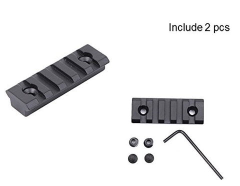 Free Float Aluminum KeyMod 5 Slot Rails for AR15 Handguards Weaver Picatinny Style Tactical Rail Mounts - 2 Piece