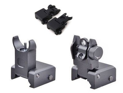 Tactical Flip Up Iron Sight Rear/Front Sight Half-Ghost Ring