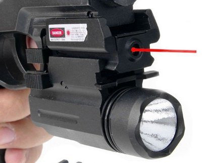 Combo Of Low Profile Red Dot Laser Sight W/ Switch & LED Light by ACME Machine