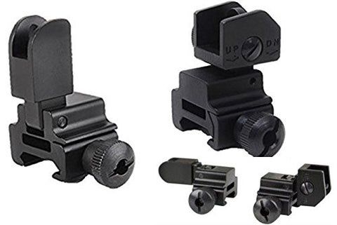 ACME Machine Front Rear Flip-up Sight Side bolt detachable, A2 iron sight, Windage adjustment