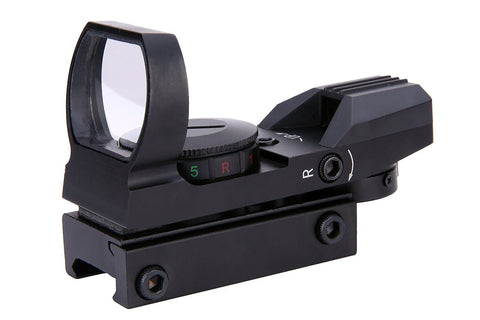Red And Green Reflex Sight Multiple Reticle and Rail Mount