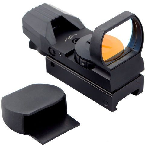 Red Dot Reflex Sight with 4 Reticles and 7 Levels of Brightness