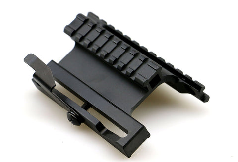 QD Picatinny Side Railed Scope Mount ADM Lock Systerm for AK-47 AK-74 Black