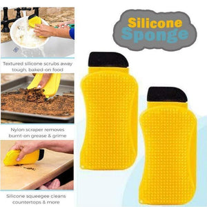 3-in-1 Silicone Cleaning Sponge - Fantasy Jewelry Online