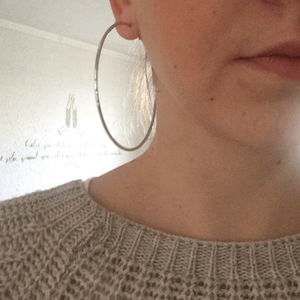 Chic Hoop Earrings 80mm - Fantasy Jewelry Online