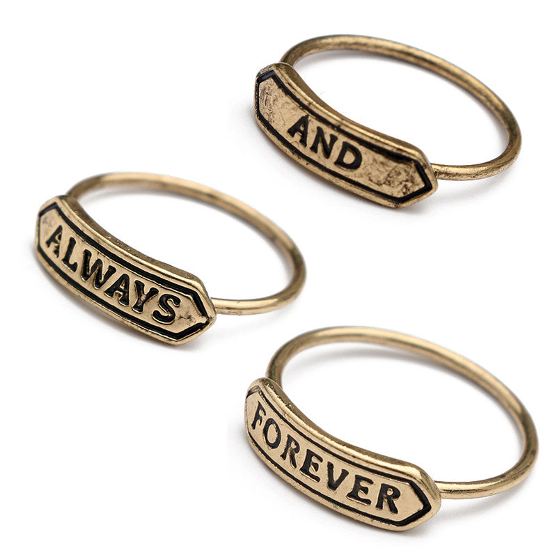 Always and Forever Rings Set - Fantasy Jewelry Online
