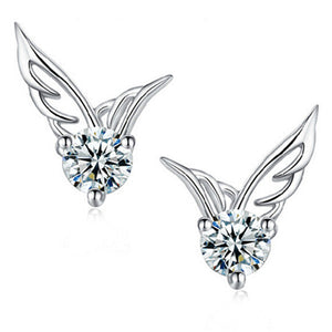 Angel Wings Stud Earrings - Fantasy Jewelry Online