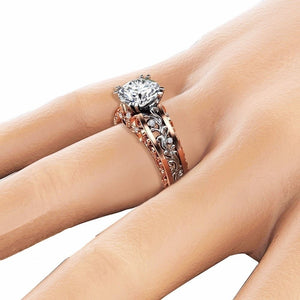 April Birthstone Diamond Bouquet Princess Ring - Fantasy Jewelry Online
