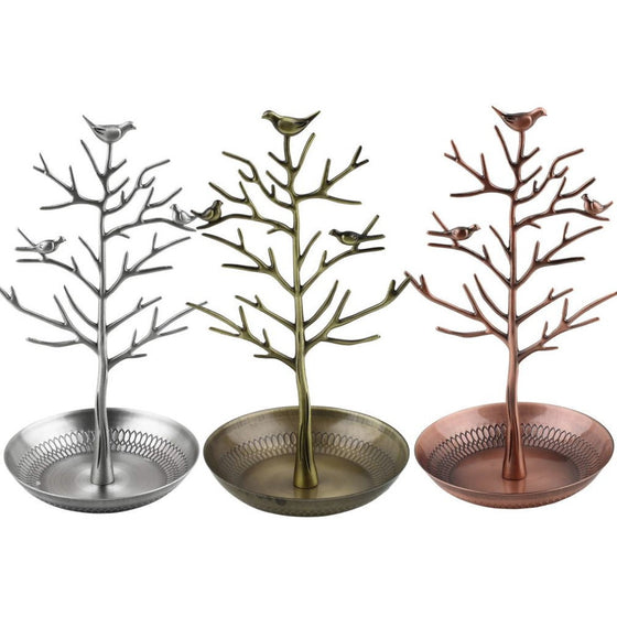 Beautiful Bird Tree Stand Jewelry Display Holder