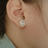 Blooming Crystal Stud Earrings - Fantasy Jewelry Online