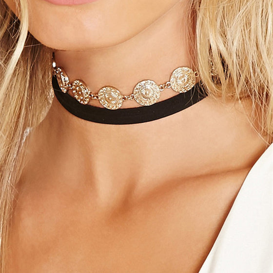 Coins Choker Necklace - Fantasy Jewelry Online