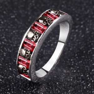 Crimson Skull Ring - Fantasy Jewelry Online