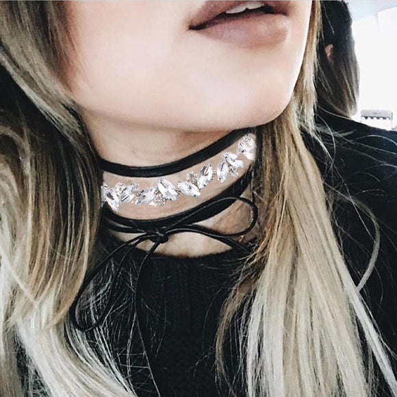 Crystal Clusters Choker Necklace - Fantasy Jewelry Online