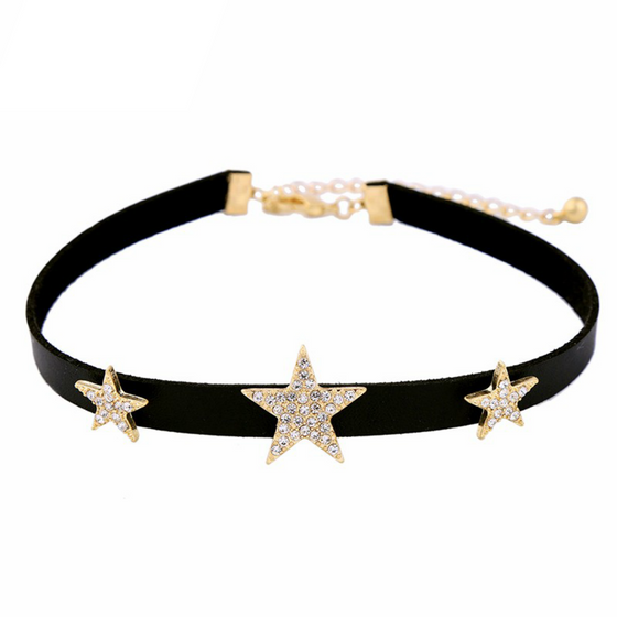 Crystal Stars Choker - Fantasy Jewelry Online