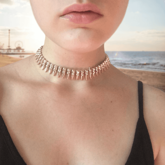 Crystals Collar Choker - Fantasy Jewelry Online