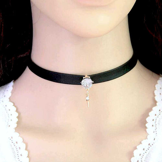 Crystals Pendant Choker - Fantasy Jewelry Online