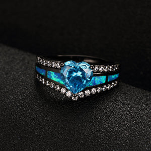 Cubic Zirconia Heart Ring - Fantasy Jewelry Online