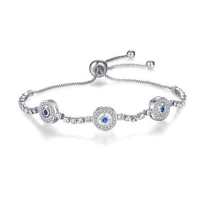Diamond And Sapphire Bolo Bracelet - Fantasy Jewelry Online