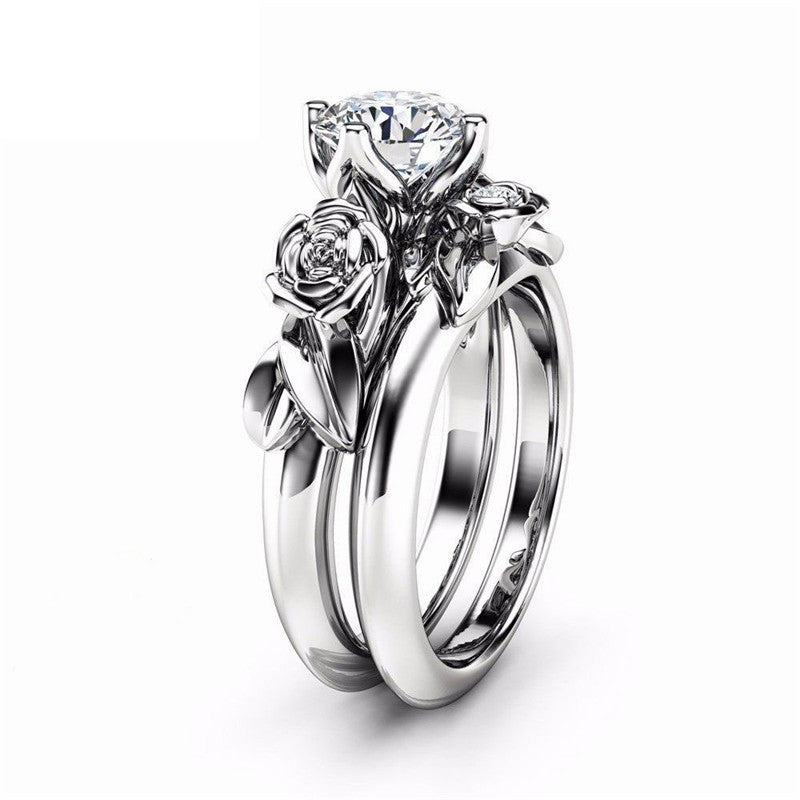 Dual Rose Princess Ring Set - Fantasy Jewelry Online
