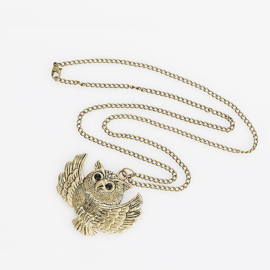 Flight Of An Owl Necklace - Fantasy Jewelry Online