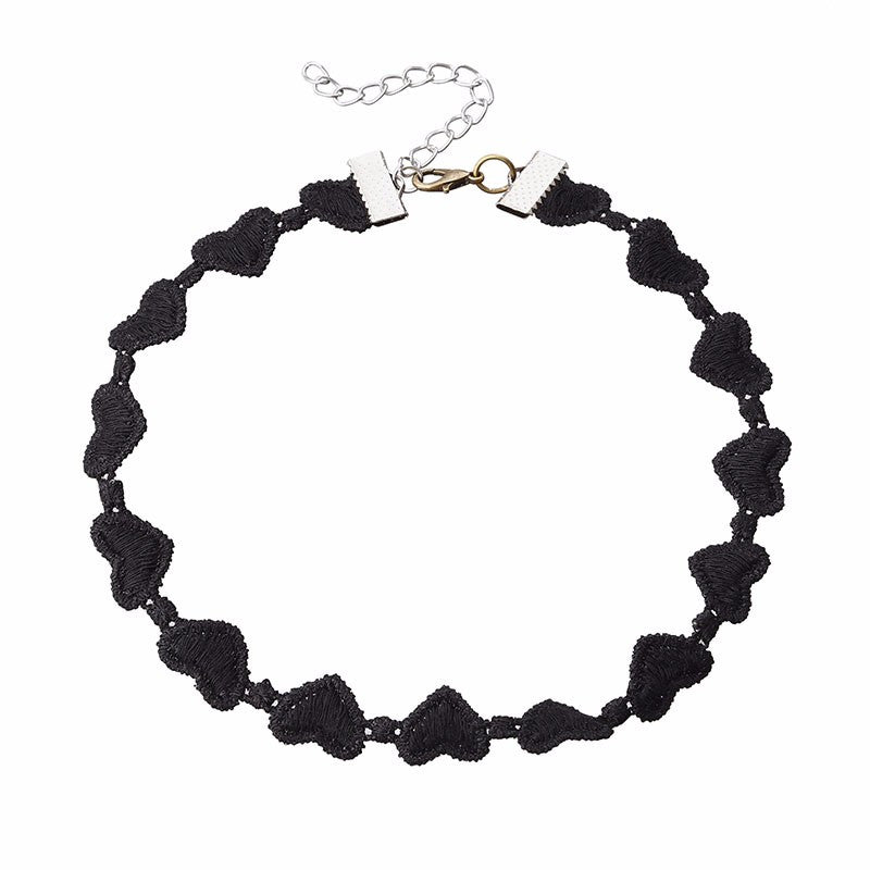 Punk Rock Hearts Choker