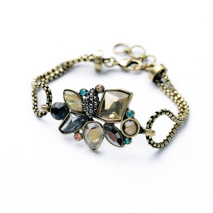 Elegant Geometric Statement Bracelet - Fantasy Jewelry Online