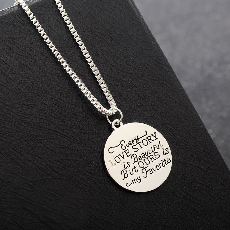 Romantic Love Story Pendant Necklace - Fantasy Jewelry Online