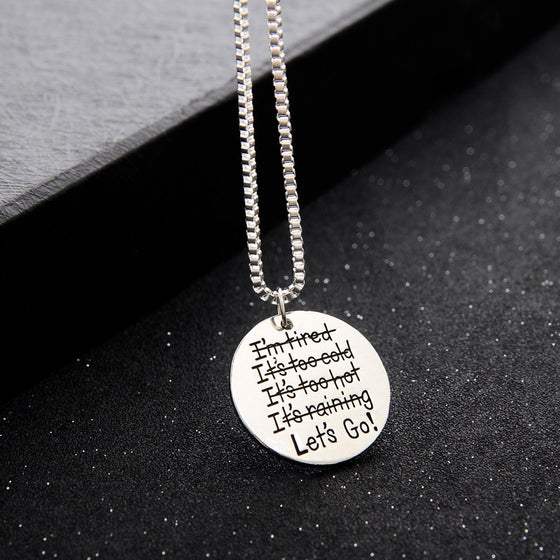 Let's Go! Pendant Necklace